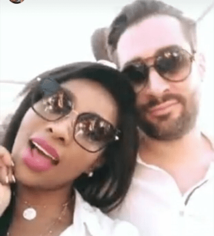 Pearl Modiadie and baby daddy
