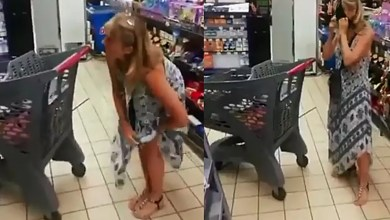 SA woman takes off her panty and uses it as mask inside the store