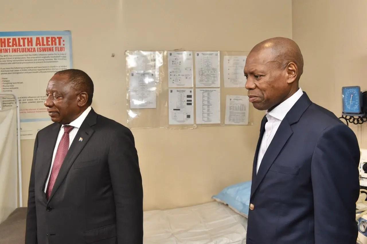 Zweli Mkhize and Cyril Ramaphosa