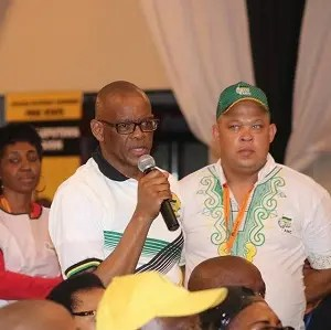 Ace Magashule and Ricardo Mettler