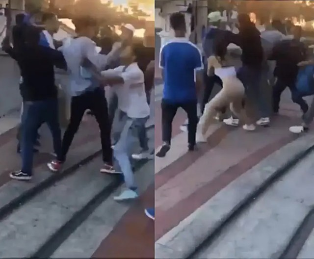 Chaos as fight between teenagers breaks out at Canal Walk