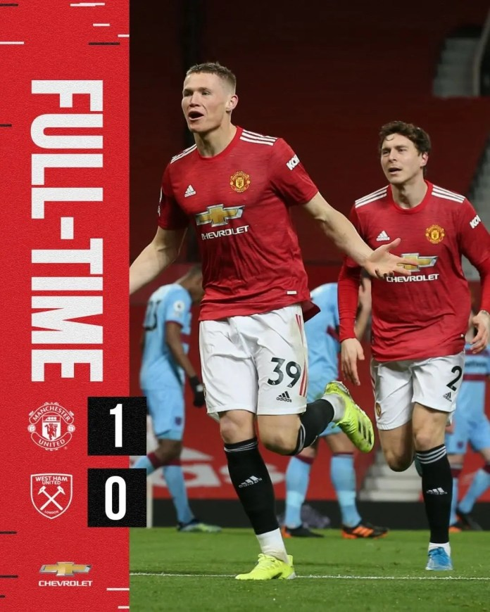 Manchester United 1 – 0 West Ham