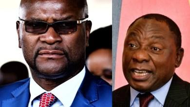 Nathi Mthethwa and Cyril Ramaphosa