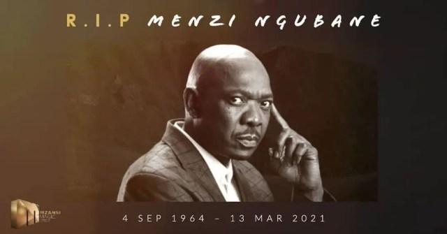 RIP Menzi Ngubane