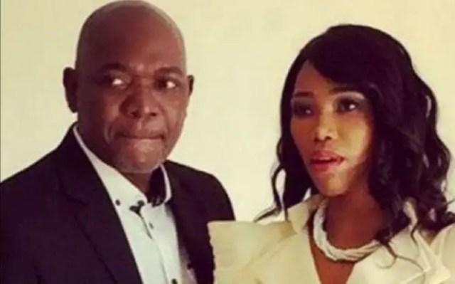 Sonia Mbele and Menzi Ngubane