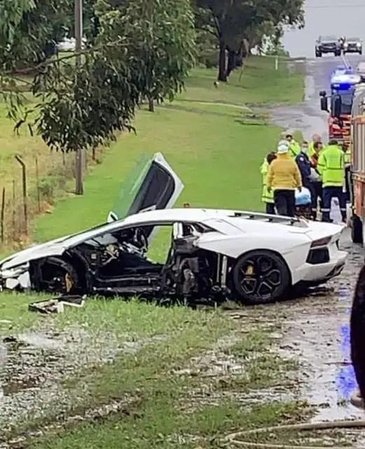 Wedding ends in tears as 2 luxurious cars crash