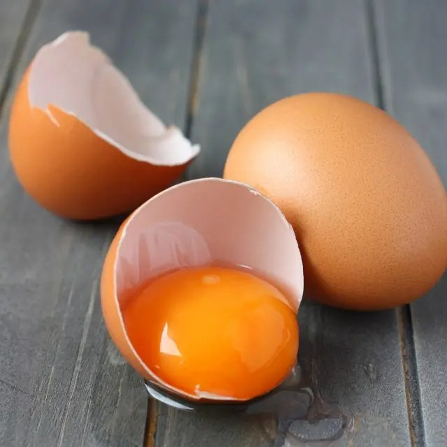 raw egg yolks