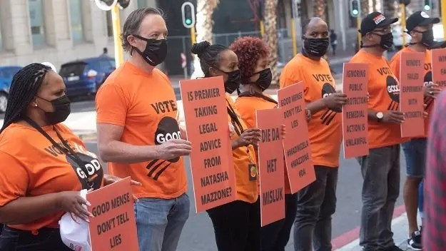 Good Party protests for Bonginkosi Madikizela's dismissal over Public Protector report