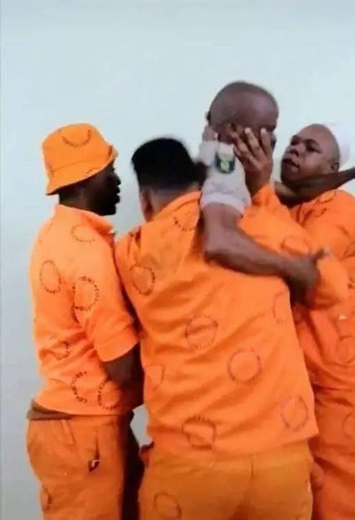 Prison guard warden VS inmates prisoners