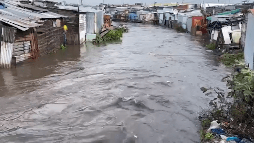 flooding in Cape Town informal settlements