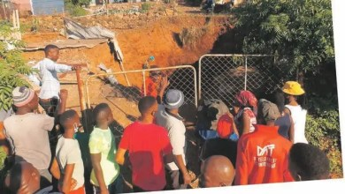 Tshwane woman's house she has been living in for 16 years swallowed by giant hole
