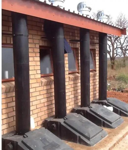 school pit toilets