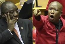 Julius Malema and Ramaphosa