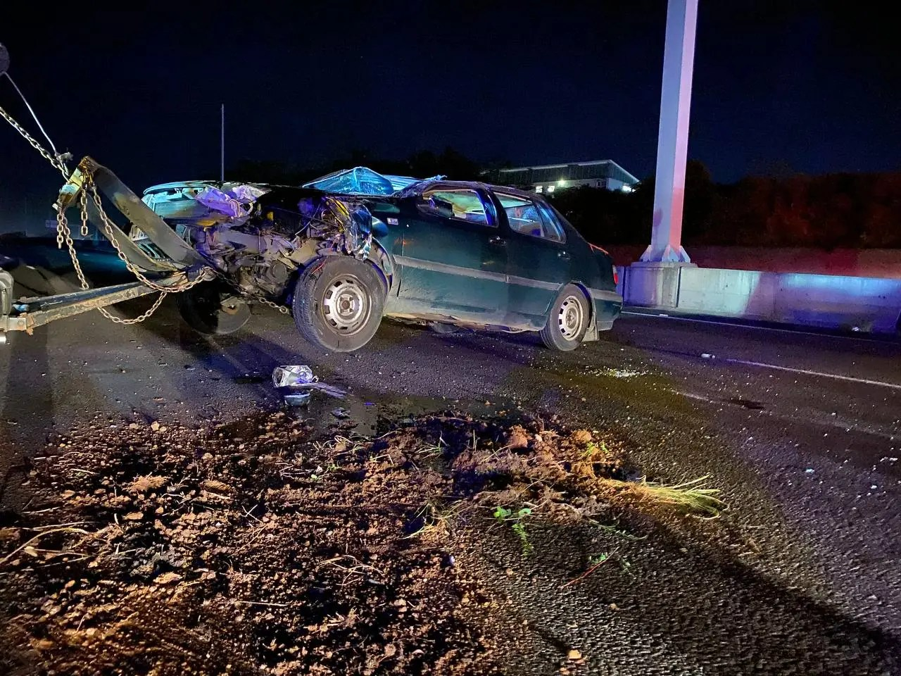 One person injured in M41 rollover