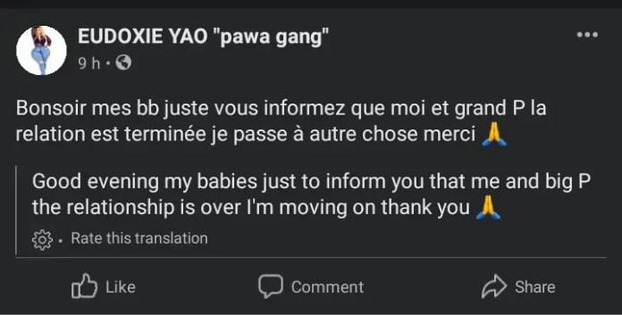 Grande P dumped by his girlfriend