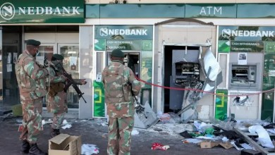 looted ATMs