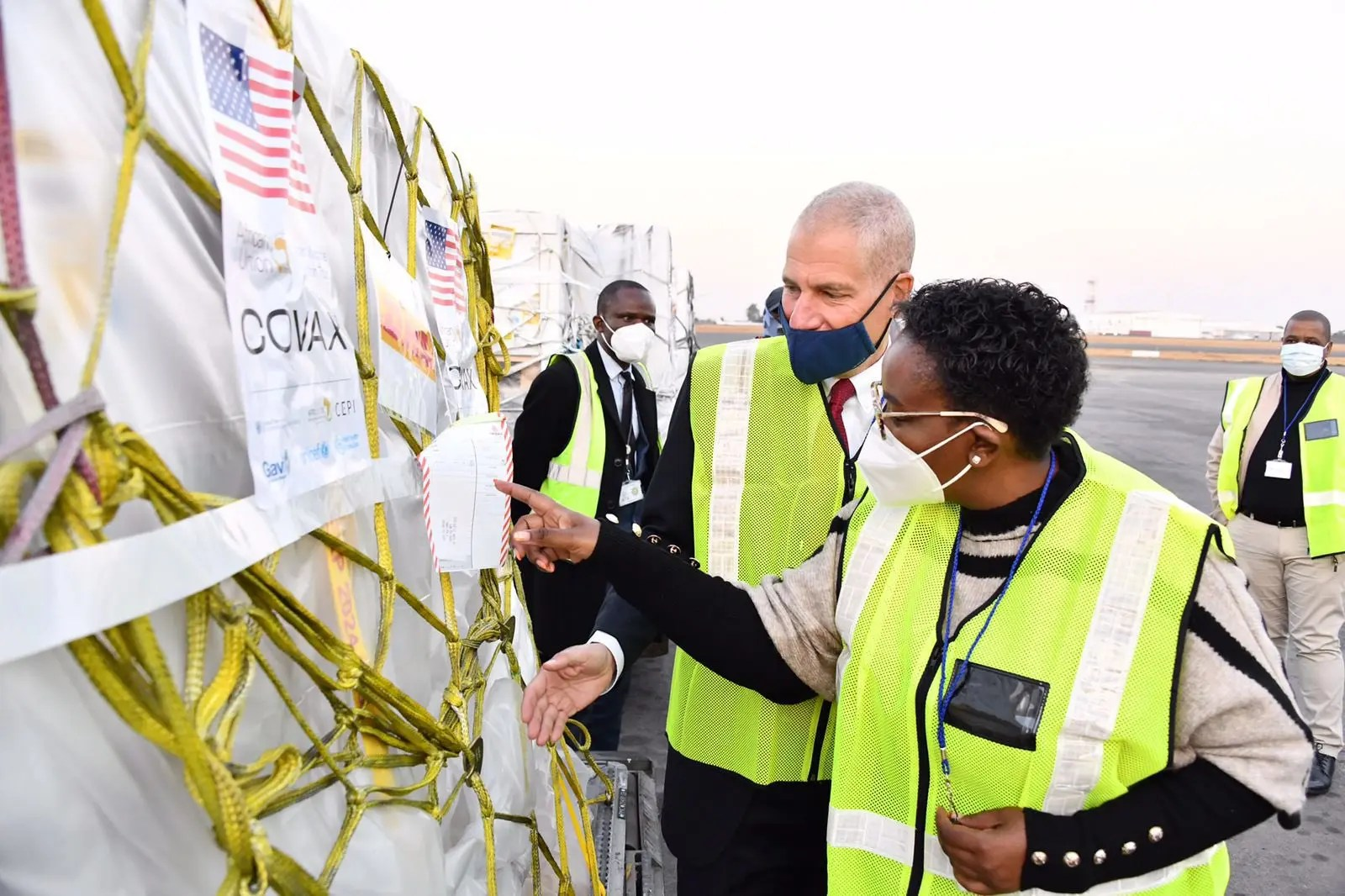 2.8 Million Pfizer vaccine doses at the OR Tambo International Airport