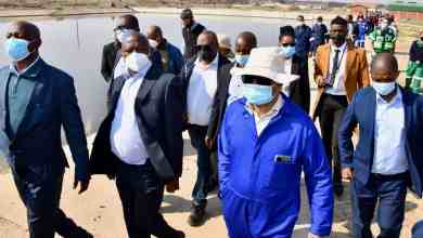 David Mabuza during an earlier visit to Vaal River and Kroonstad Waste Water