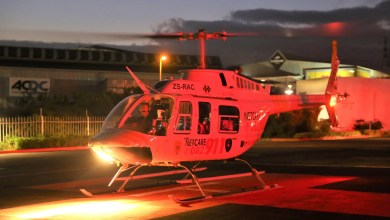 Worker airlifted to hospital