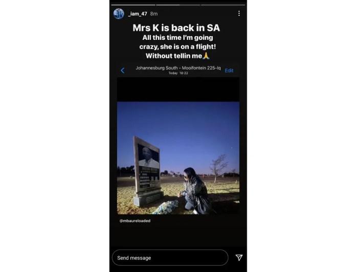 Kudzai Mushonga Instagram story