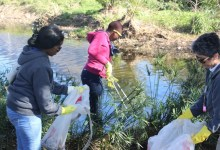 cleaning the rivers
