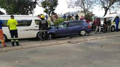 KZN driver crashes into taxi after allegedly fleeing from fatal car crash
