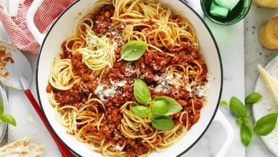 Pork mince spaghetti