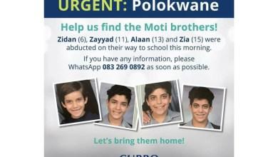Zidan, 6, Zayyad, 11, Alaan, 13 and Zia, 15, were kidnapped around 7am on Wednesday morning