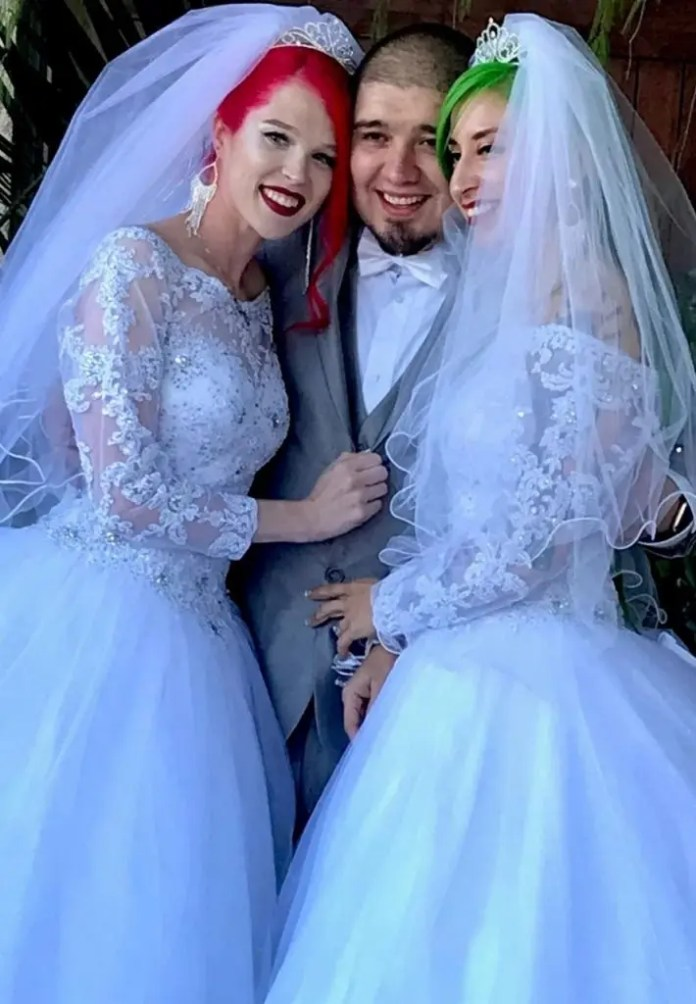 Wedding for 3 as a couple agrees to marry another woman