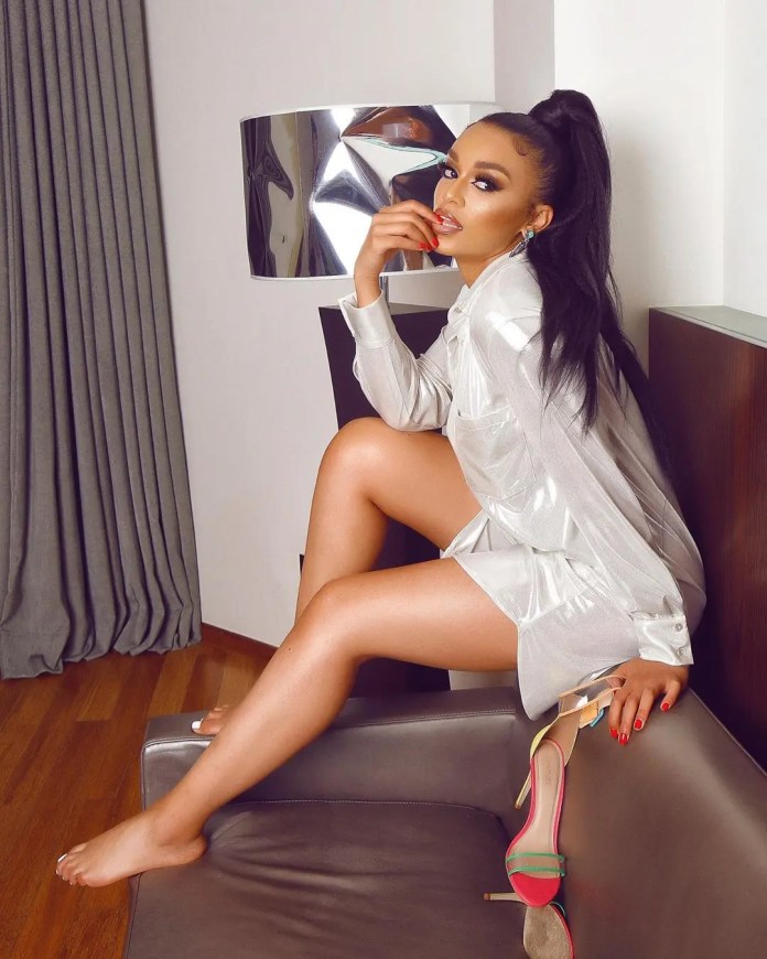 Pearl Thusi sends social media crazy after getting topless in a steamy scene on Queen Sono