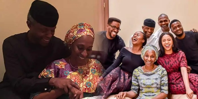 Vice President Yemi Osinbajo and wife welcome their first grandchild