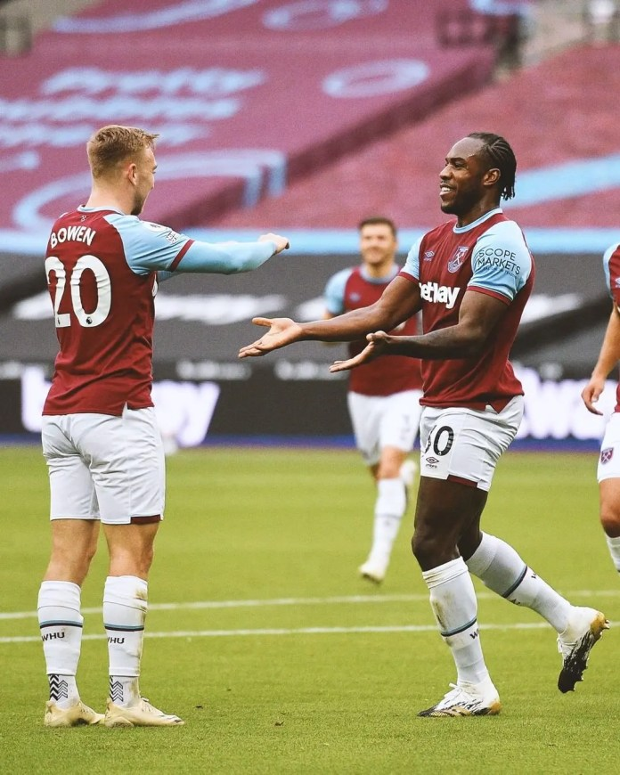 West Ham's Antonio scores a brace they thumped Leicester City 4 – 1