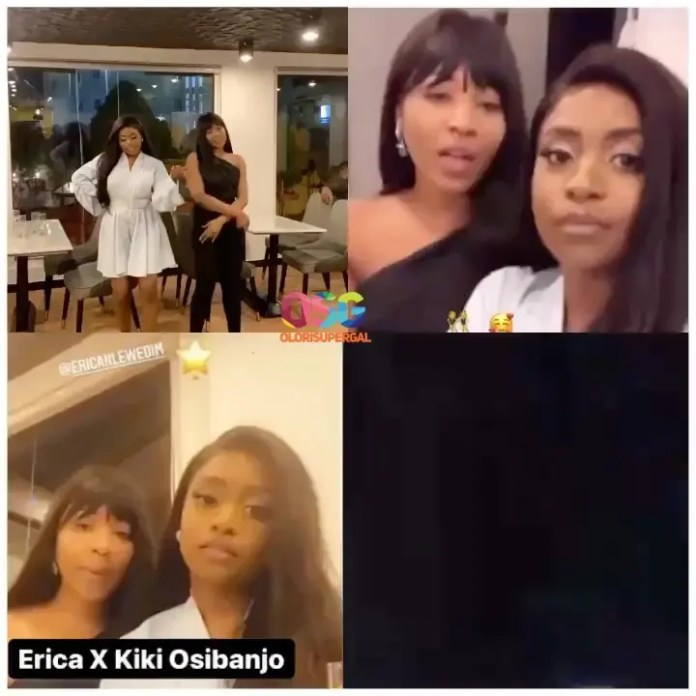 Big Brother Naija star Erica spotted hanging out with the VPs daughter Kiki