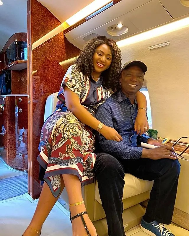 Regina Daniels hubby Ned Nwoko reacts to his female worker who hasn't been with a man for a year
