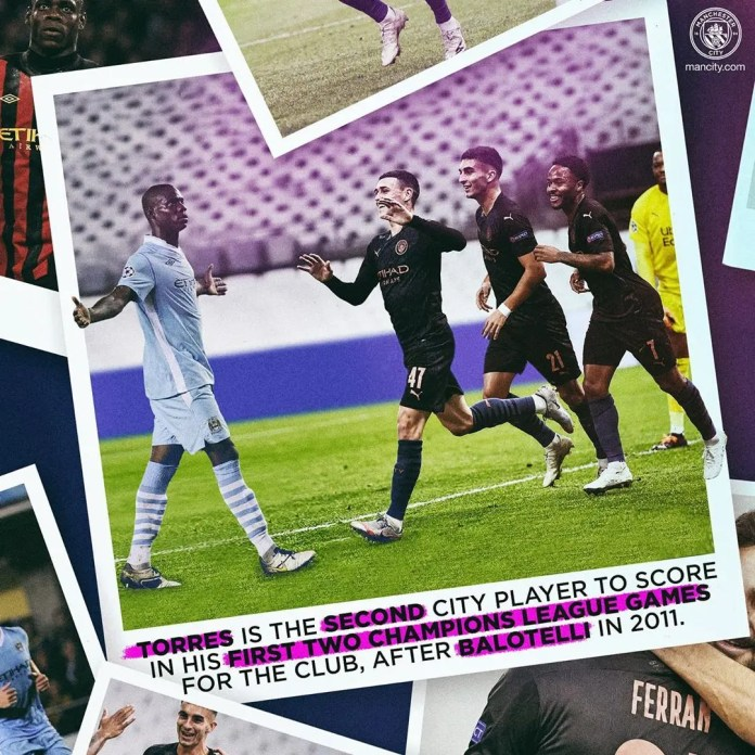 Manchester City thumps Marseille 3- 0