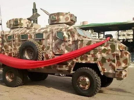 Nigerian Army inducts 8 locally made combat vehicles