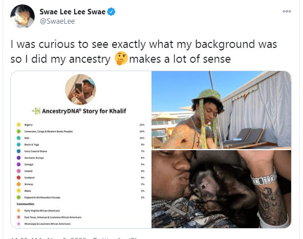 Swae Lee's DNA results confirm hes of Nigerian descent