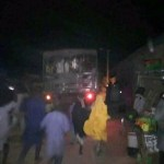 Truck with Kankara students