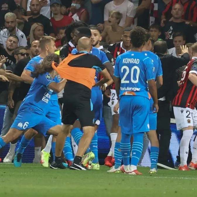 Drama as Nice, Marseille match abandoned after fans enter pitch and attack players