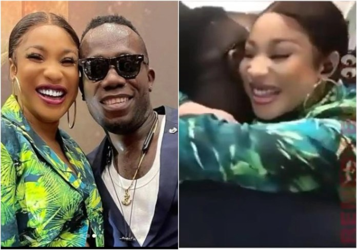 Reactions as Tonto Dikeh hugs Duncan Mighty passionately: She really needs love