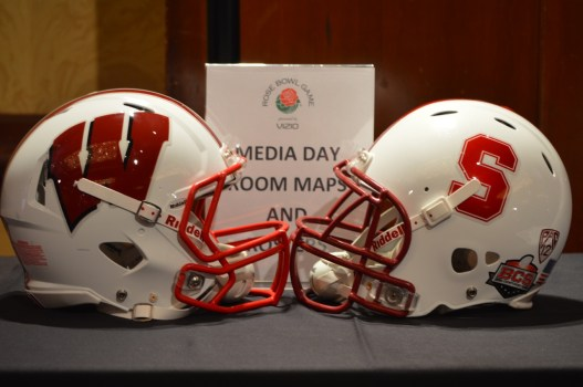 Stanford and Wisconsin square off in the 99th Rose Bowl Game presented by Vizio in Pasadena, Ca. Photo Credit: Ronald Jenkins
