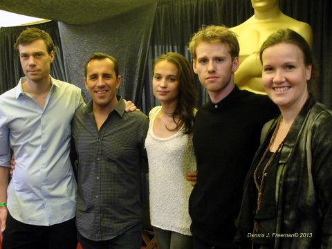 "Members from the film ""A Royal Affair,"" attends a media session during Oscar week. Photo Credit: Dennis Freeman"