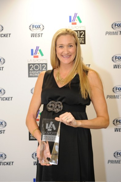 Beach volleyball Olympic gold medalists Kerri Walsh Jennings (seen here) and teammate Misty May-Treanor  received the L.A. Sports Award for  Sportswomen of the Year. Photo courtesy of the L.A. Sports Council