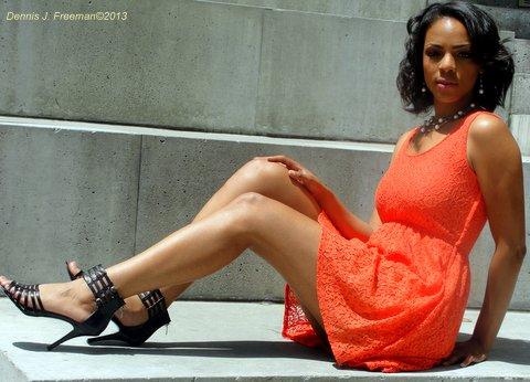 Model Maisha Sha' Nay is looking to impact lives and rip the runway with success. Photo: Dennis J. Freeman. Hair: