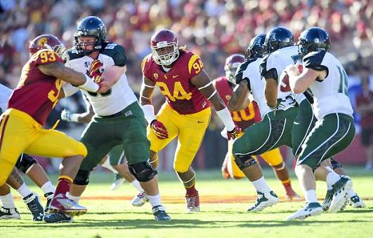 Bringing the pain: Leonard Williams hopes to lead USC to a great season. Photo Credit: USC Sports Information Department