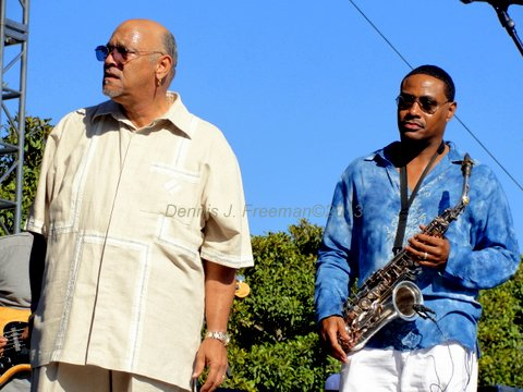 Phil Perry and Kim Waters paid homage to the late great George Duke. Photo Credit: Dennis J. Freeman