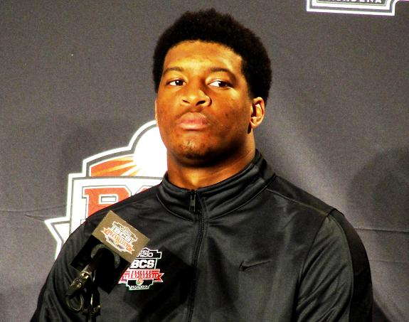 All eyes on him: Florida State quarterback Jameis WInston is the best player in college football as his Heisman Trophy will attest. Photo Credit: News4usonline.com