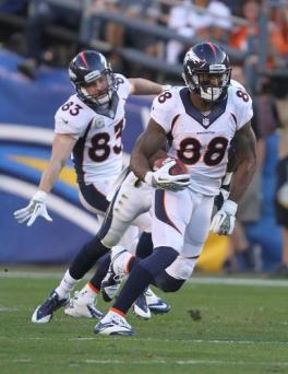 Denver Broncos wide receiver Demaryius Thomas (88). Photo Credit: Kevin Reece/News4usonline.com