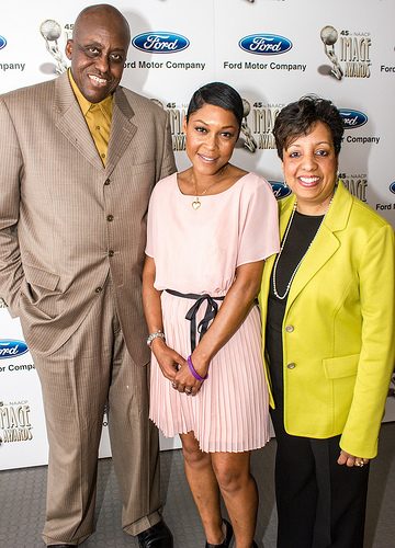 """The Best Man Holiday star Monica Calhoun along with Bill Duke and more than 300 Hollywood entertainers, members of NAACP, and aspiring television and filmmaking students were in attendance at the NAACP Hollywood Bureau Symposium. Photo credit: Louis """"Kengi"""" Carr"""