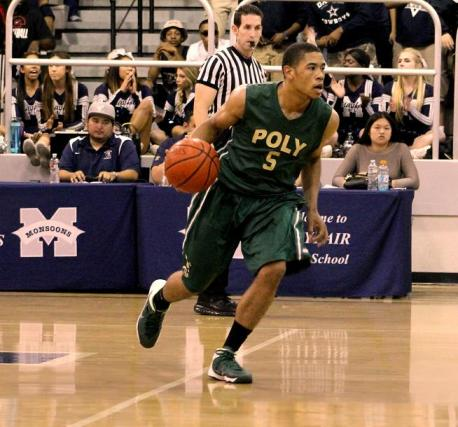 Kameron Murrell (5) leads the Poly attack against Mayfair. Photo: Dennis Freeman/News4usonline.com